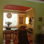 Beautifully decorated dining room