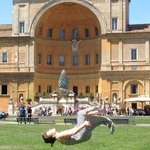 Grace flips across Italy...the Vatican