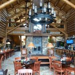 The inside of main lodge