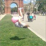 Grace flips across Europe -- Barcelona, Spain
