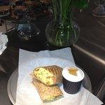 Breakfast Wrap and Expresso Macchiato!
