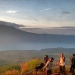 The view at the top of Mt Batur