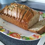 Baked banna bread from Esther