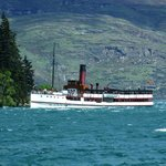 The TSS Earnslaw arriving back in Queenstown.