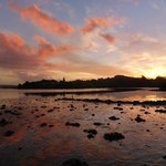 Sunset with lowtide