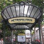 Iconic metro sign