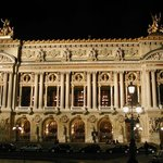 The Opera illuminated at night