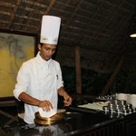 The ever smiling and jovial chef Manu