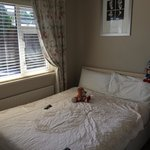 The room with full sized bed and two thin pillows. If you have neck or nasal issues, bring an ex