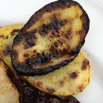 Example of (burnt) summer squash served with our entree