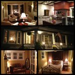 This is a composite of the entire BnB; bottom 2 photos are the bed and sitting room of the Bento