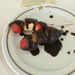 Chocolate Strawberries & Banana's From The Fountain