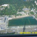 Вид на останкинский пруд с высоты 337метров