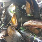 Mussels with pearl barley