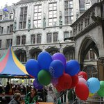 Neues Rathaus at Marienplatz on Mai Day
