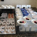Part of the breakfast spread on the 9th floor