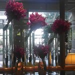 Flowers in the hotel entry
