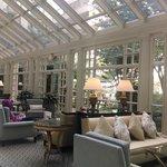 Beautiful lobby lounge area