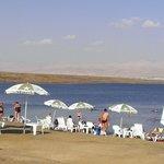 The beach on The Dead Sea