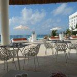 Breakfast near pool/beach