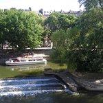 Boat near Pulteney Bridge, Bath