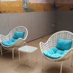 Seating outside with 4 chairs (not 2 )