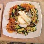 Burrata con verdure alla griglia