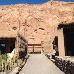 The cliffs adjacent to the Alto Atacama