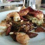 Prawns and saussage (lunch menu)