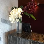 Floral display at reception