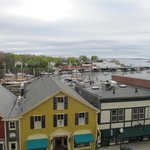 Main St. and Camden Harbor from our balcony
