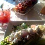 Bruschetta & Grilled Romaine Salad