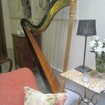 Harp in one of the Living Rooms
