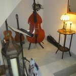 String instruments in the Lobby area