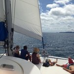The catamaran cruise