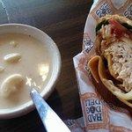 Southwest Chicken Wrap & Chicken Pepperjack Soup
