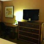 DoubleTree King Suite Desk and TV