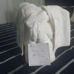 Our towel elephant. ☺