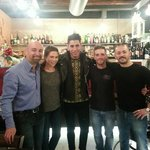 Al Bacco Felice; Tim & Ariana with staff