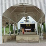 The Shrine open with the covered seating area