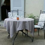La table en terrasse