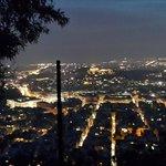 Вид на ночные Афины