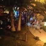 loud yobbish gangs outside foyer until all hours