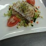 Caesar fish (salade Caesar à base de cabillaud)