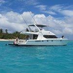 Virgin Traders Power Catamaran at Necker Islands