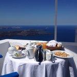 breakfast view from balcony