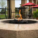 Late Night Lighting, Soft Seating Around Fire Pit So You Can Stay Longer