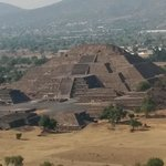 Pyramid of the moon, seen from the top of the Pyramid of the Sun