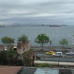 Вид с террасы ресторана отеля