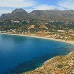 Blick auf Strand und Plakias Resorts